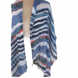 Fraas Multi Color Scarf 100% polyester Blue White